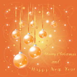 Greeting The Merry Christmas And New Year Po Stock Image