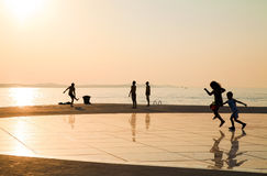 Greeting to the Sun, Zadar, Croatia Stock Image