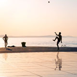 Greeting to the Sun, Zadar, Croatia Royalty Free Stock Image