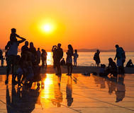 Greeting to the Sun, Zadar, Croatia Stock Photos