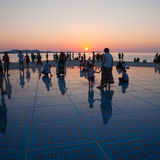 Greeting to the Sun, Zadar, Croatia Stock Photo