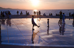 Greeting to the Sun, Zadar, Croatia Royalty Free Stock Photography