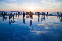 Greeting to the Sun, Zadar, Croatia Royalty Free Stock Photos