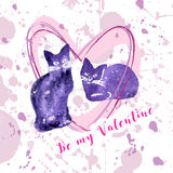 Greeting valentine card Stock Photography
