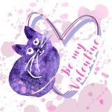 Greeting valentine card Royalty Free Stock Photos