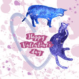 Greeting valentine card Royalty Free Stock Photo