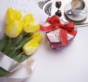 Greeting Valentine's Day stock photos