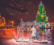 Greeting from Vilnius Royalty Free Stock Images