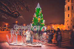 Greeting from Vilnius Royalty Free Stock Image