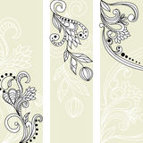 Greeting vintage banners. Universal template for greeting card, web page, background Stock Photos