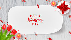 Greeting web banner for Women`s Day Royalty Free Stock Photography