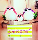 Greeting welcome sign. Greeting sign welcome Royalty Free Stock Photo