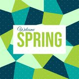 Greeting Welcome Spring - Vector royalty free illustration