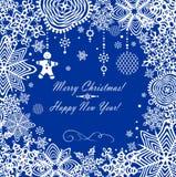 Greeting xmas card Royalty Free Stock Image