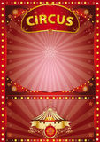 Greeting xmas circus poster Stock Photos