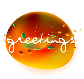 Greetings. A vector image, illustration, drawing Stock Photography