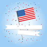 Greetings american card Royalty Free Stock Photography