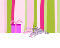 Greetings card. Abstract vector greetings card for design use royalty free illustration