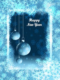 Greetings card. Happy New Year! Card for you Stock Photo