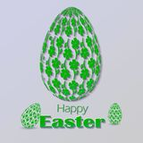 Greetings card with the Easter holiday Stock Photo