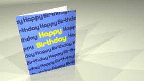 Greetings Card HappyBirthday Royalty Free Stock Image