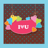 Greetings card for lovers. Declaration of love Royalty Free Stock Images