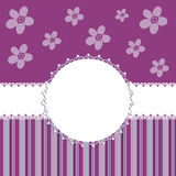 Greetings card template. Flowers an ornaments royalty free illustration
