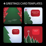 4 Greetings Card Templates Stock Photography
