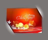 Greetings card for xmas Stock Photos