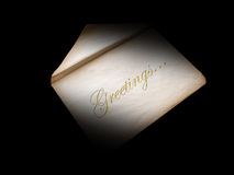Greetings envelope Stock Images