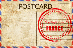 Greetings from france Royalty Free Stock Photos