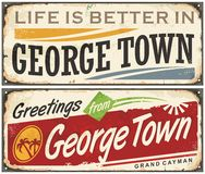 Greetings from George Town Royalty Free Stock Photography