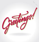 Greetings hand lettering (vector) Stock Photography
