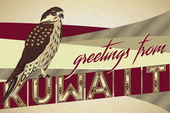 Greetings From KUWAIT Falcon Card Stock Images