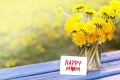 Greetings for mom Stock Photos