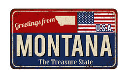 Greetings from Montana vintage rusty metal sign Stock Images