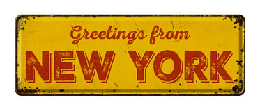 Greetings from New York royalty free stock photos