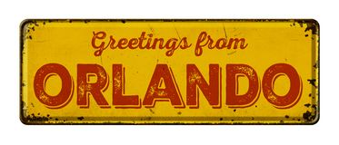 Greetings from Orlando royalty free stock image