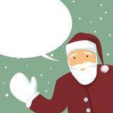 Greetings from Santa Claus Stock Photo