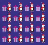 Greetings from Santa penguin Stock Photos