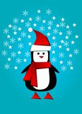 Greetings from Santa penguin Royalty Free Stock Image