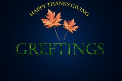 Greetings. Thanks giving greetings with texure as background Royalty Free Stock Image