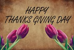 Greetings. Thanks giving greetings with texure as background Stock Images