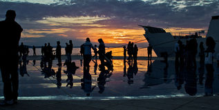 Greetings to the sun in Zadar Stock Image