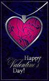 Greetings with Valentine`s day royalty free illustration