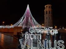 Greetings from vilnius stock photos