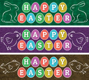 Greetings web banners for Easter Day Royalty Free Stock Images