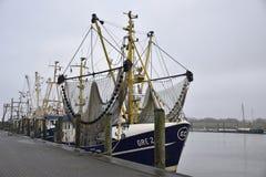 Greetsiel,德国捕鱼港口  免版税库存图片