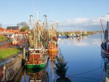 Greetsiel, рыбацкие лодки Стоковые Фото