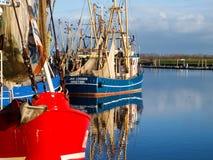 Greetsiel, рыбацкие лодки Стоковые Изображения RF